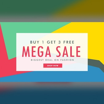 Discount voucher with geometric shapes