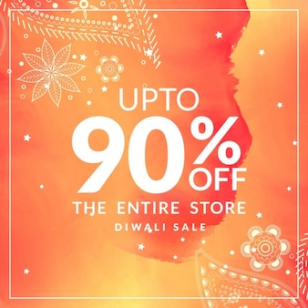 Discount voucher with ornaments for diwali