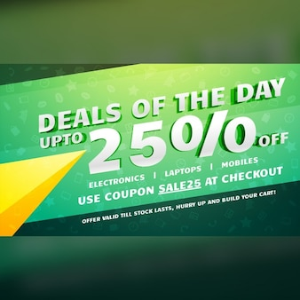 Discount voucher, yellow and green