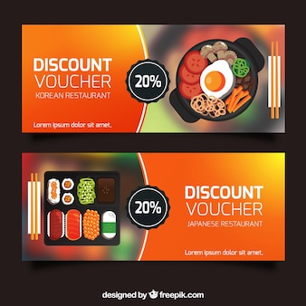 Discount vouchers banners collection