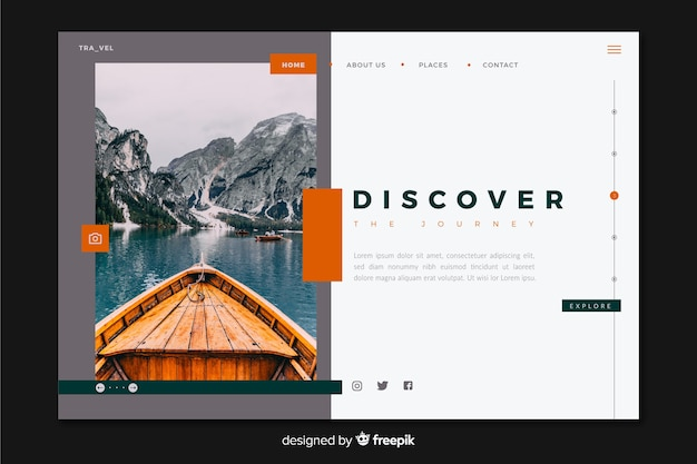 Discover the journey travel landing page