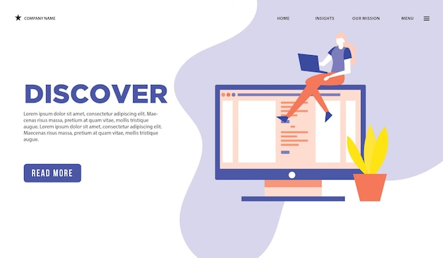 Discover web page