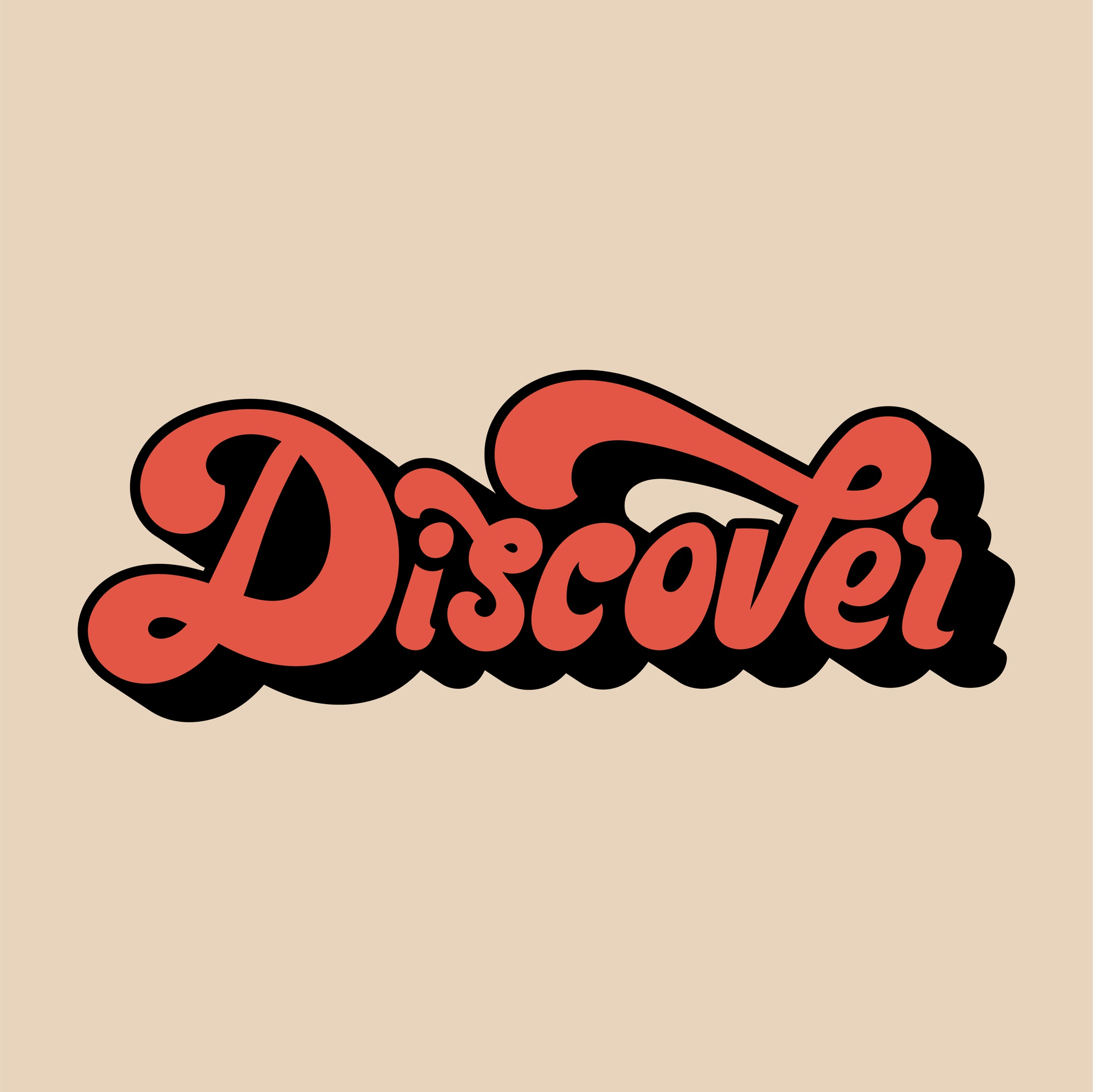 Discover word typography style illustration