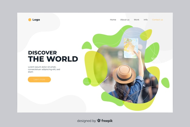 Discover the world travel landing page