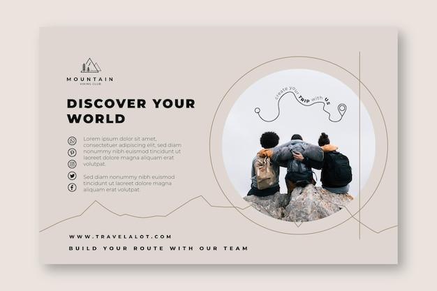 Scopri il tuo banner escursionistico mondiale