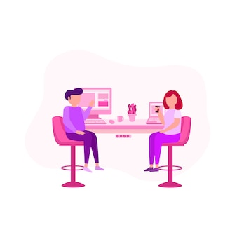 Discuss time illustration