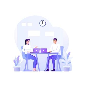 Discussion concept  illustration