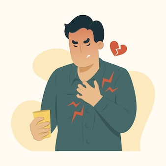 Disease concept chest pain illustration