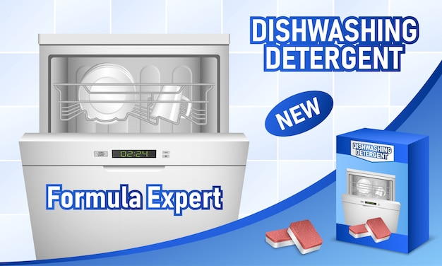 Dishwasher concept background