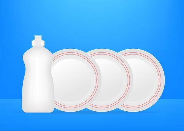 Иллюстрация жидкости для мытья посуды