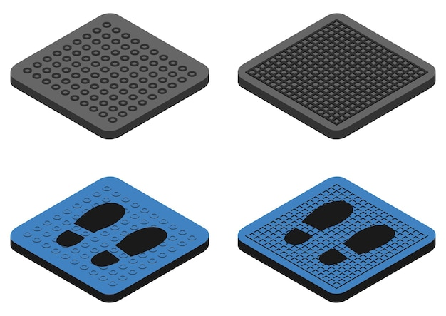 消毒マットカラー抗菌エントリーラグ靴用消毒カーペット