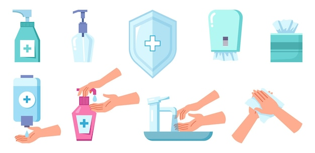 Disinfection and cleaning antiseptic spray soap