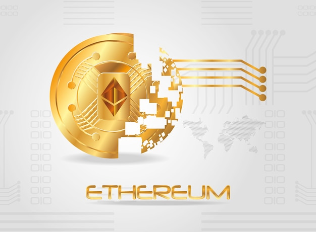 Disintegrated coin of ethereum