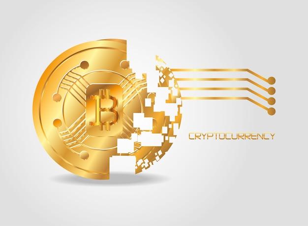 Disintegrated coin og bitcoin