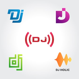 Disk jockey business symbol collections