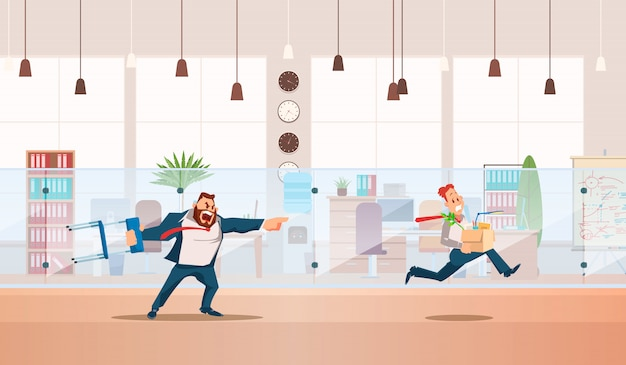 Dismissed, loss job. vector illustration.