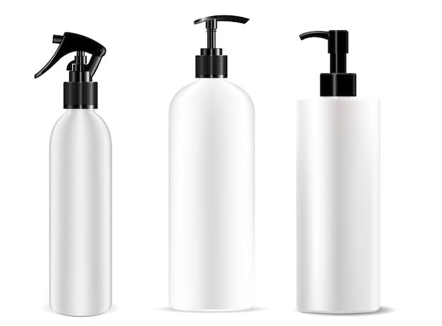 Dispenser bottle pump spray set. cosmetic