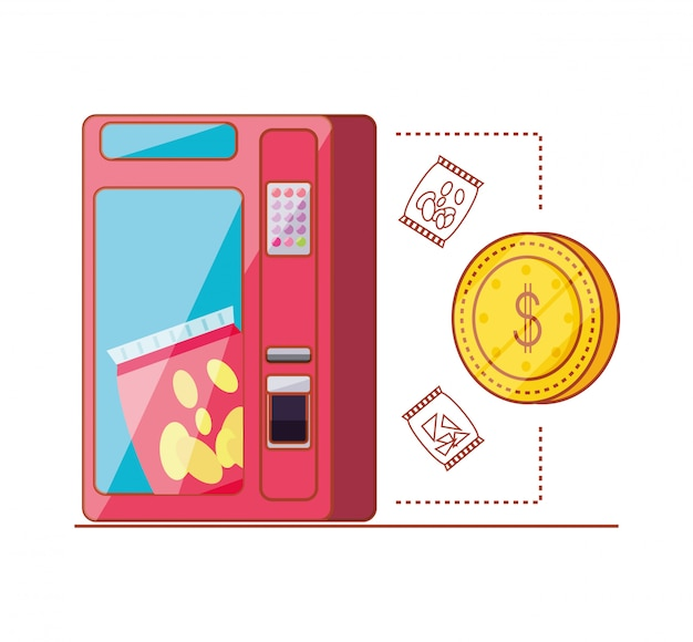 Диспенсер чипсов с монетой доллар автомат электронный