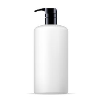 Dispenser pump cosmetic bottle mockup