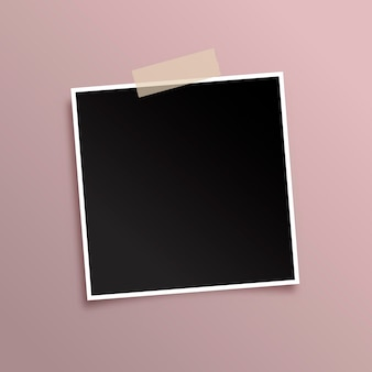 Display background with black photo frame