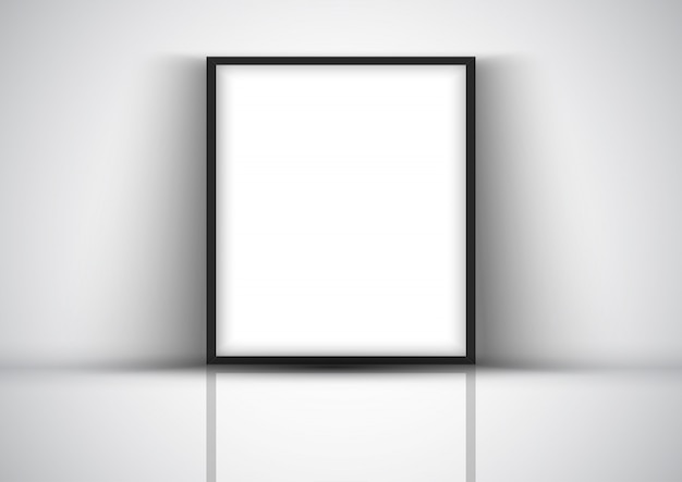 Дисплей фон с пустой рамкой на стене
