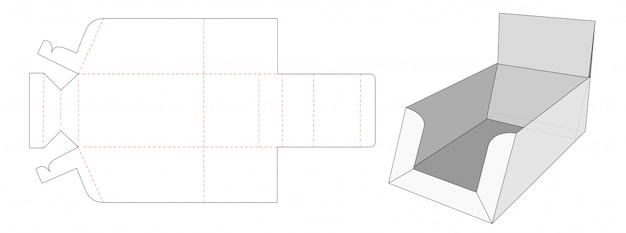 Display box die cut template design