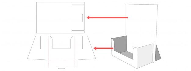 Display die cut template
