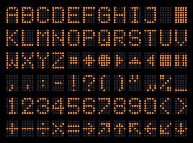문자 및 숫자 표시 심볼 세트 서체