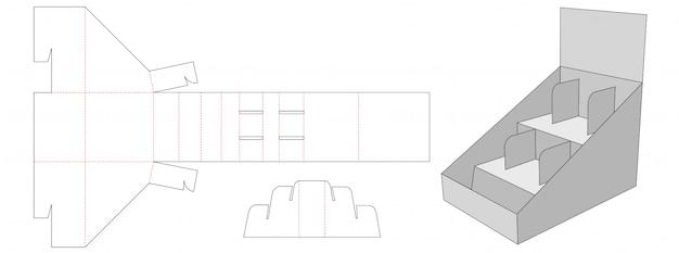 Display shelf die cut template design