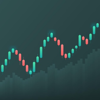 Display of stock market quotes. candlestick on a white background.