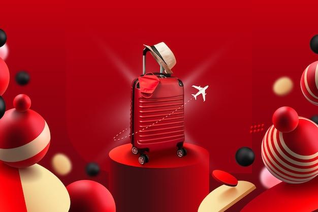 荷物とテンプレートを表示