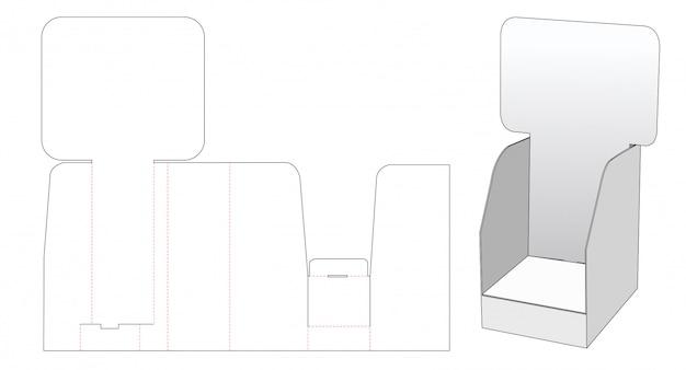 Display with advertising board die cut template