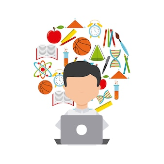 Distance education elearning icon