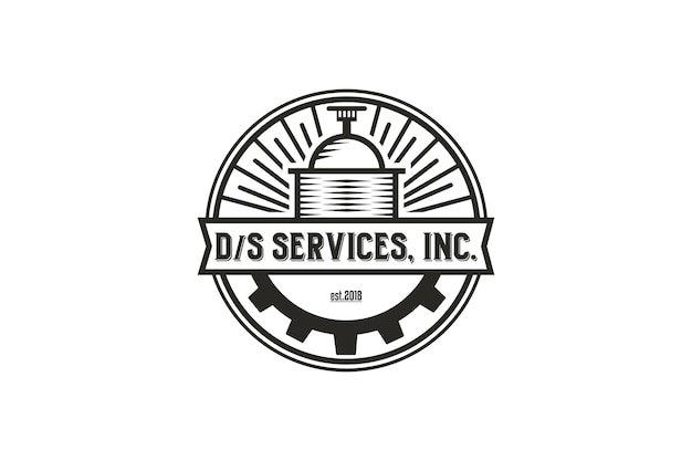 Distillery logo and line style