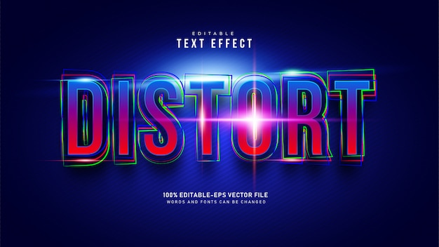 Distort text effect