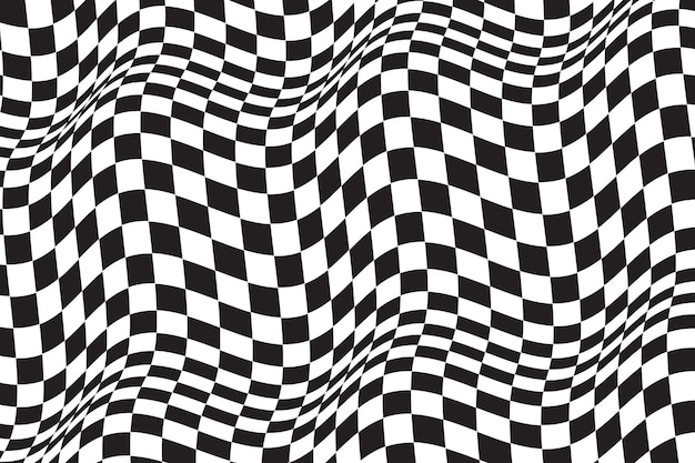 Distorted checkered background