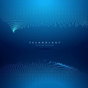 Distorted digital mesh wave