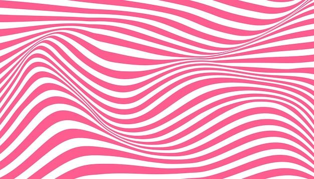 왜곡 된 잉크 줄무늬 착시 배경