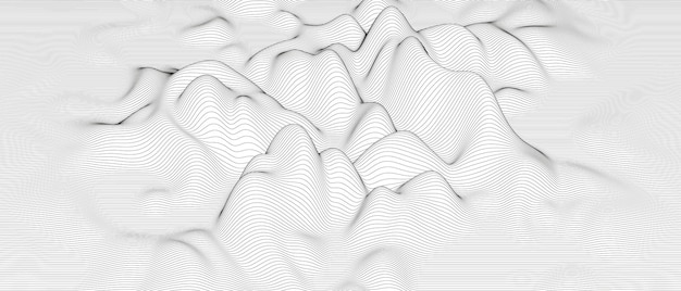 Distorted line shapes on a white background.