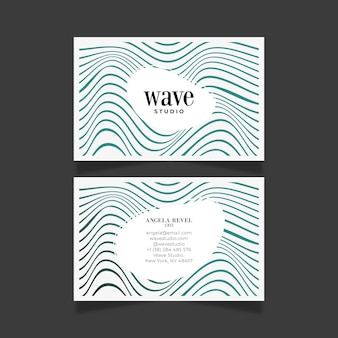 Distorted lines on business cards