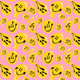 Distorted smile emoticon pattern