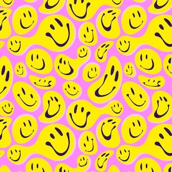 歪んだ笑顔の絵文字パターン