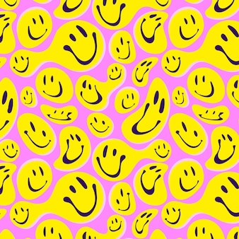 Distorted smile emoticon pattern