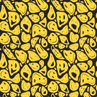 Distorted smile emoticons pattern