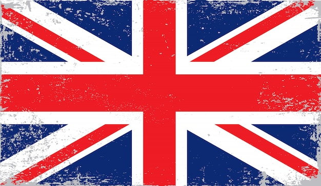 Distressed flag of united kingdom