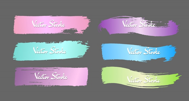 Distressed gradient vector stroke set