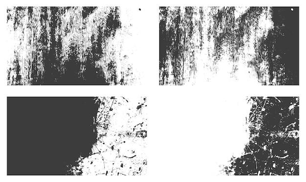 苦しめられたグランジテクスチャ背景セットベクトル
