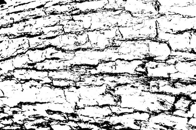 粗い表面、ひびの入った木、樹皮の苦しめられたオーバーレイテクスチャー。グランジ背景。