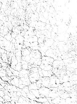荒い表面、乾燥した土壌、割れた地面の苦しめられたオーバーレイテクスチャ。グランジ背景。 Premiumベクター