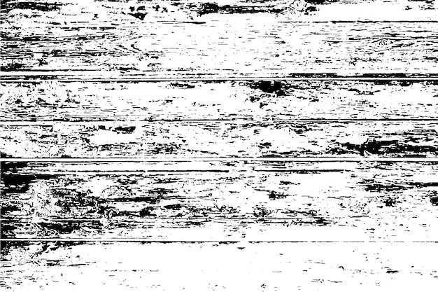 粗面、木製の壁の苦しめられたオーバーレイテクスチャ。グランジ背景。 Premiumベクター